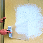 Easiest way to repair knockdown texture on a wall patch ever!