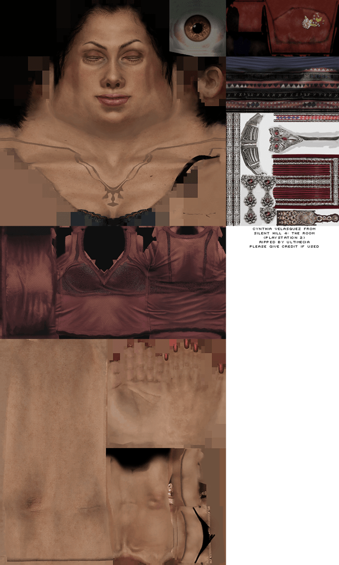 PlayStation 2  Silent Hill 4 The Room  Cynthia Velasquez  The Textures Resource