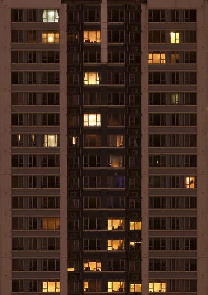 HighRiseNight0031  Free Background Texture  highrise high rise facade night windows skyscraper