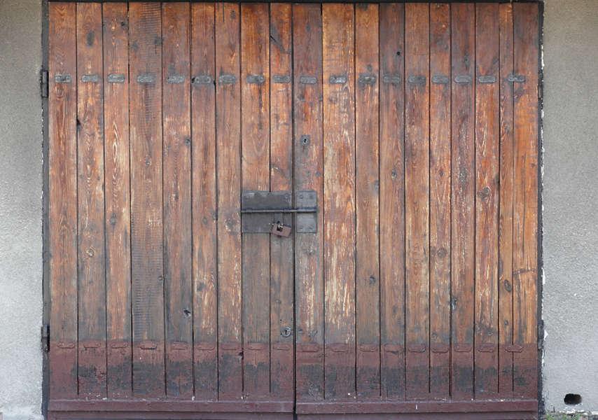 DoorsWoodBig0039  Free Background Texture  door garage double wood old planks brown beige