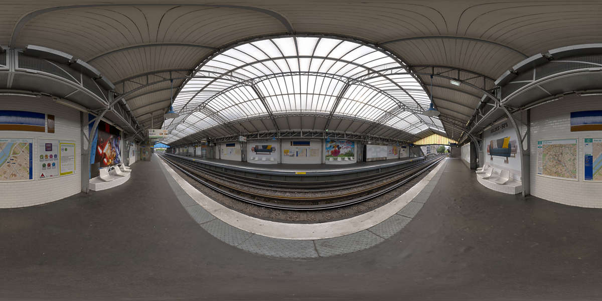 HDR Panorama 014 Subway Station HDRi light probe