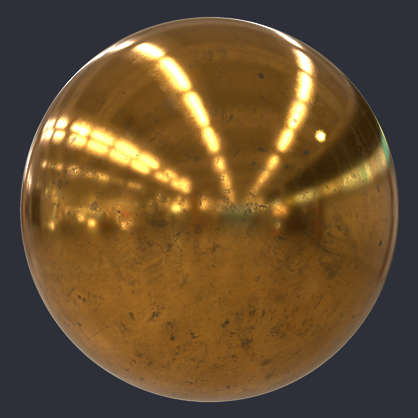 Dirty Gold PBR Material S0111