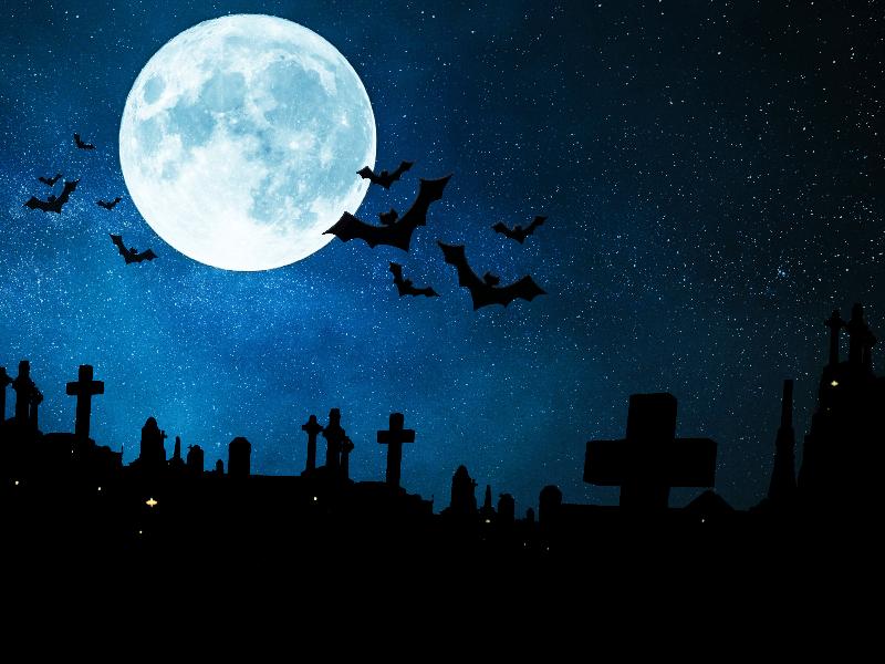 halloween night background free