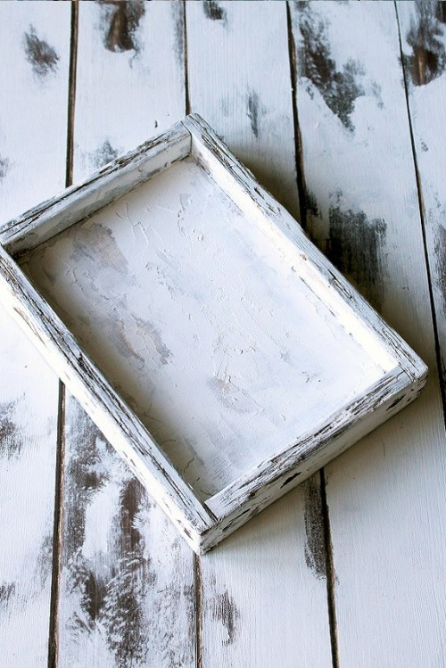 shabby white tray