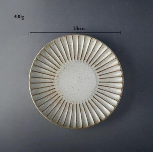 Stoneware retro style plate