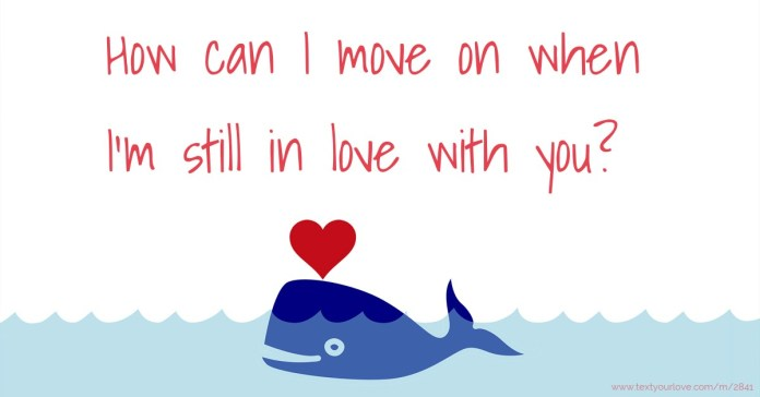 How Can I Move On When I M Still In Love With You Text Message By Chloie