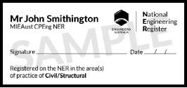 National Engineering Register Official Stamp