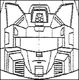 Blueprint for the head sculpt of the Binaltech/Alternators