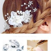 Handmade Pearl Crystal Wedding Hair Accessories, Wedding