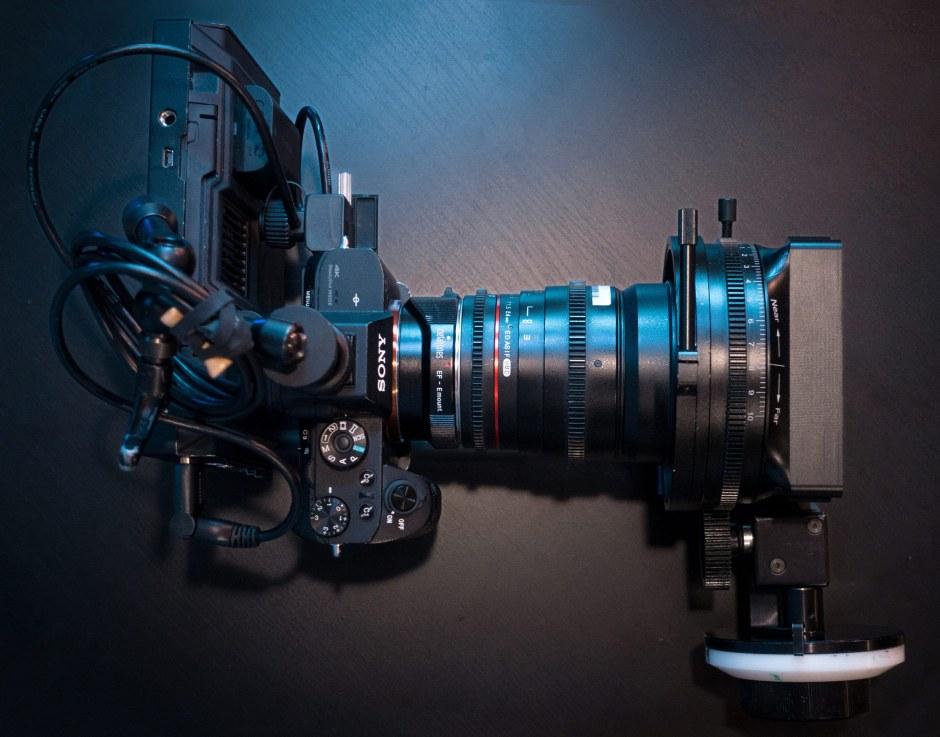 camera and lens setup for Scope