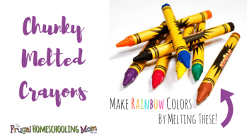 Frugal Free Homeschool Ideas - melted crayon recipe