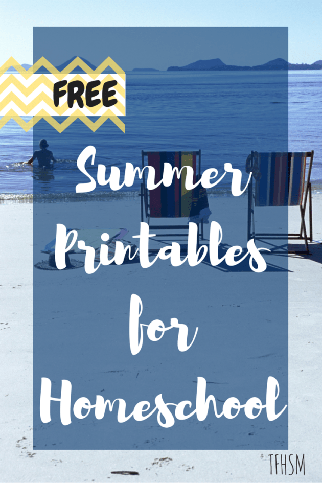 Free frugal homeschool printables for summer vacation TFHSM