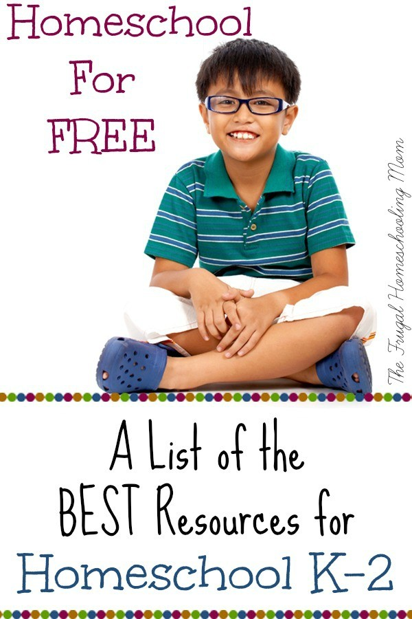Homeschool Kindergarten 1st grade 2nd grade for Free at The Frugal Homeschooling Mom