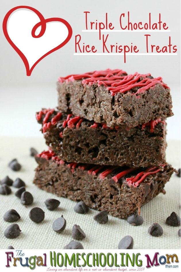 Triple Chocolate Rice Krispie Treats Nut Free Peanut Free Recipe The Frugal Homeschooling Mom