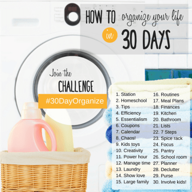 Organize your life 30 days