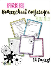 The Frugal Homeschooling Mom Free Homeschool Conference planning checklist note taking sheets and to do list b