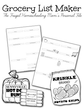 TFHSM Free printable grocery list