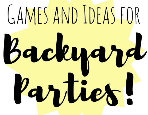 backyard cookout party games ideas free frugal diy f