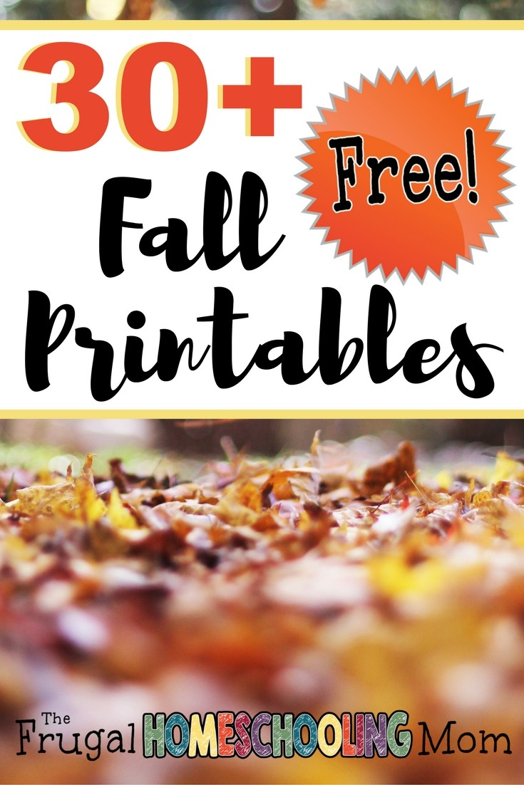 Free Fall Printables for Your Homeschool Family p