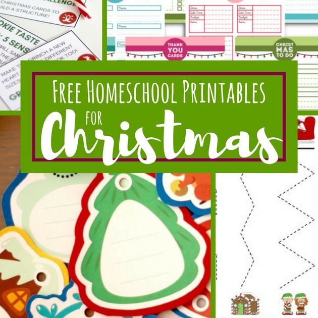 Free homeschool printables and activities lesson plans for Christmas The Frugal Homeschooling Mom i