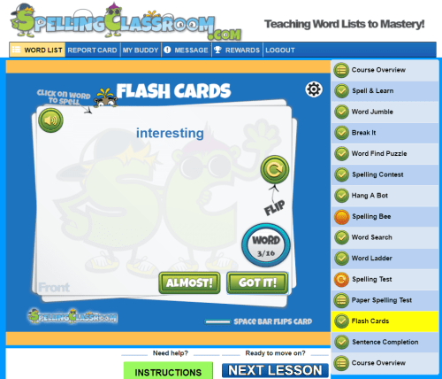 Homeschool Online Spelling program