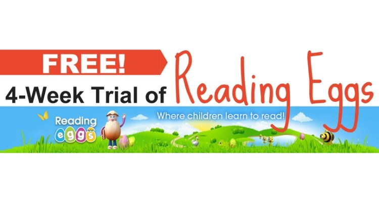 Free 4 week trial of Reading Eggs Online Homeschool Reading Curriculum for multiple ages - The Frugal Homeschooling Mom f
