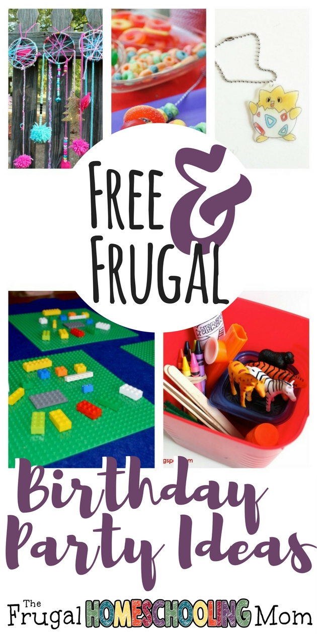Free and Frugal Birthday Party Crafts and Games - The Frugal Homeschooling Mom 2
