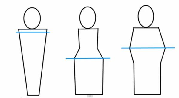 מדידה של החלק הרחב בגוףלתחפושת של צבע