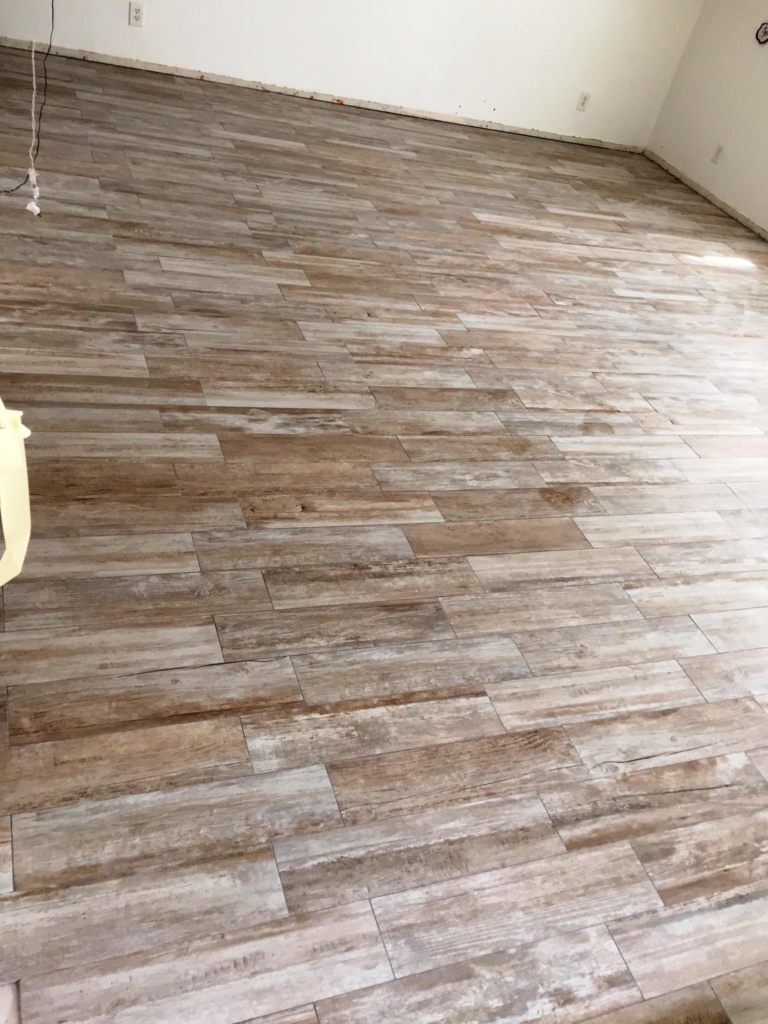 cement tile kitchen redesign porcelain wood | t.f.i. & marble design