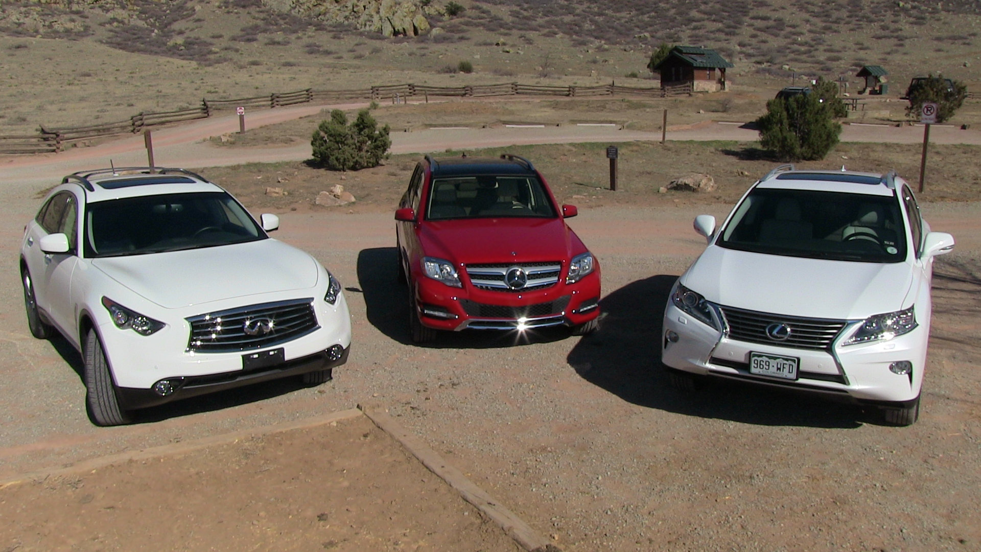 2013 Lexus RX 350 vs Mercedes Benz GLK vs Infiniti FX37 0 60 $53K