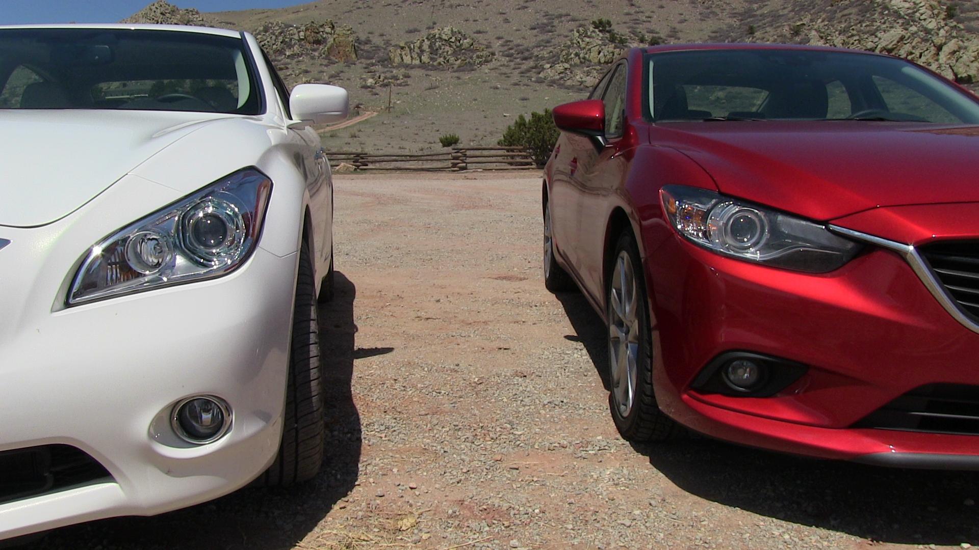 2014 Mazda6 Vs Infiniti M35 Hybrid Technology Mashup Review The