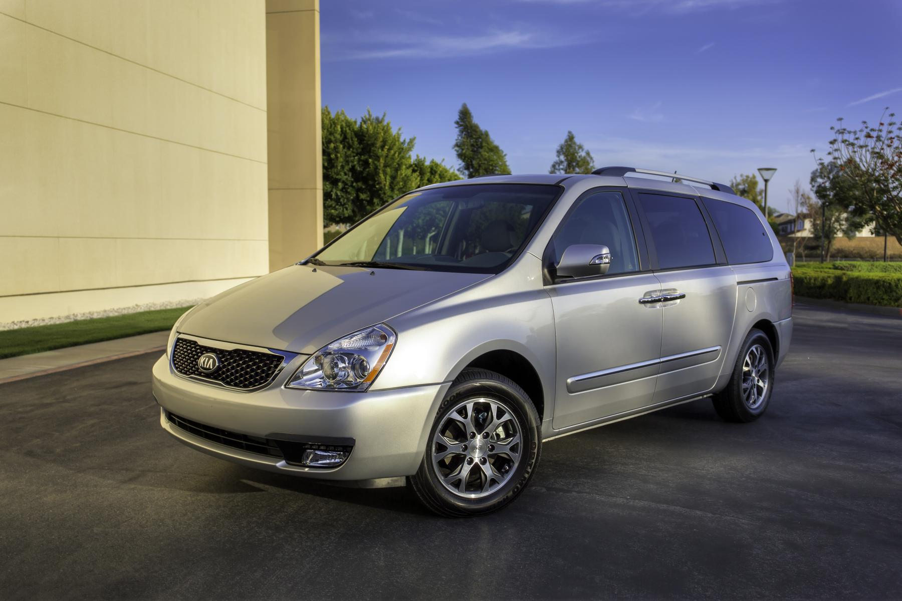 hight resolution of this is the only photo kia has released of the 2014 kia sedona notice the new nose