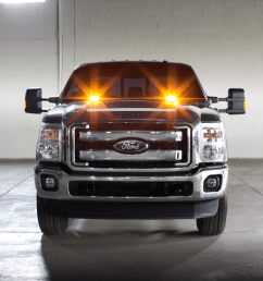 factory installed strobe warning led lights will be available on 2016 ford super duty trucks [ 1224 x 918 Pixel ]