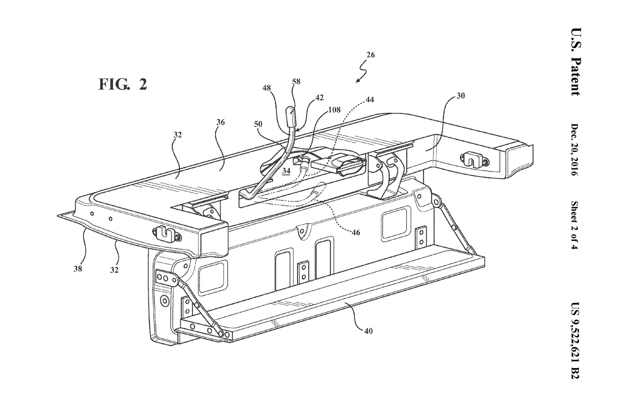 Gm Tailgate Step Patent Diag
