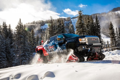 small resolution of 2018 gmc sierra hd 2500 all mountain concept tank tracks for your heavy duty diesel news the fast lane truck