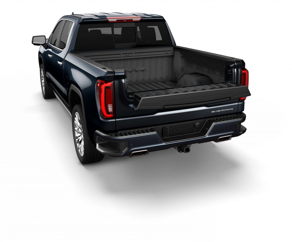 hight resolution of 2019 gmc sierra denali multipro tailgate inner gate work surface