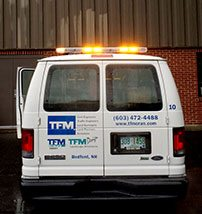 TFMoran Survey Vans have Roof Mounted Safety Lights