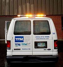 TFMoran Survey Vans have Roof Mounted Safety Lights