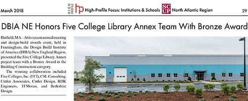 TFMoran Structural part of Five College Library Annex Team