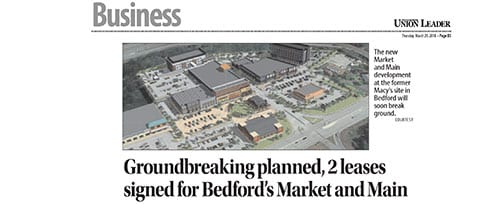 Groundbreaking for Market and Main - Bedford, NH