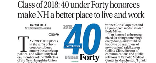 Union Leader 40 Under Forty 2018 Awards Event