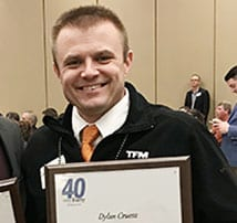 TFMoran's COO, Dylan Cruess, one of 40 honored at Union Leader Awards Night