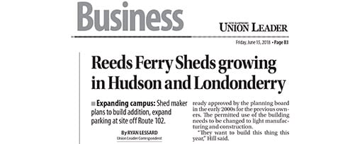 Reeds Ferry Sheds Expansion