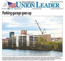TFM Millyard Parking Garage Project featured on Front Page of the NH Union Leader