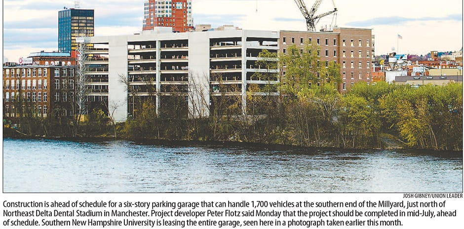TFM Millyard Parking Garage Project featured on Front Page of the NH