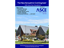 TFMoran's Project on June/July cover of ASCE-NH Newsletter