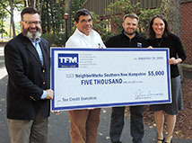 TFMoran donates $5,000 to support NeighborWorks® Southern New Hampshire West Side RENEW initiative