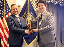 Congratulations to Jeremy Belanger (pictured left) named NH's Young Engineer of the Year!