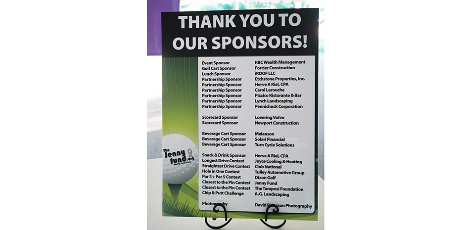 The Jenny Fund Golf Tournament 2020