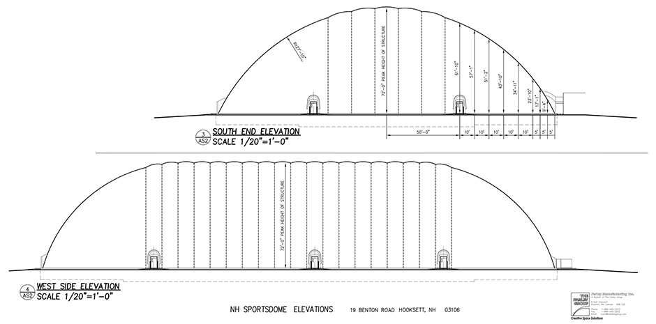 TFMoran engineers for NH Sportsdome in Hooksett